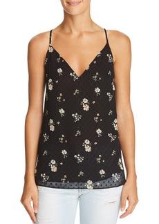 AQUA Floral Swiss Dot V-Back Camisole - 100% Exclusive