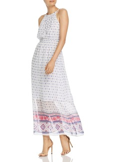 AQUA Floral Tile Print Maxi Dress - 100% Exclusive