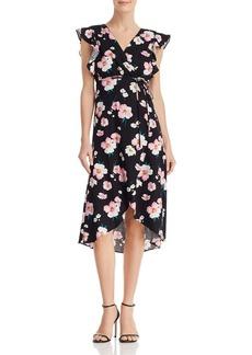 AQUA Floral Wrap Dress - 100% Exclusive
