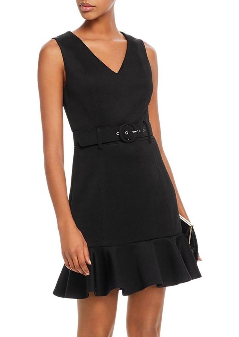 AQUA Flounced Belted Dress - 100% Exclusive