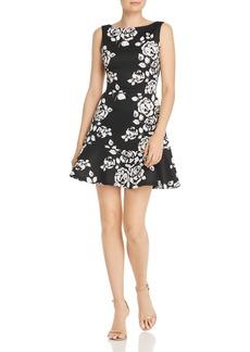 AQUA Flounced Floral A-Line Dress - 100% Exclusive