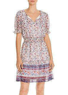 AQUA Flounced Floral Paisley Dress - 100% Exclusive