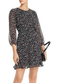 AQUA Flounced Leopard Print Dress - 100% Exclusive