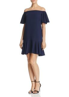 AQUA Flounced Off-the-Shoulder Dress - 100% Exclusive