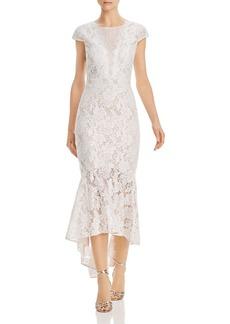 AQUA Fluted Lace Dress - 100% Exclusive