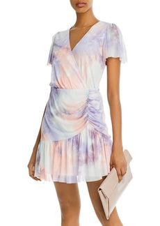 AQUA Flutter-Sleeve Mesh Overlay Dress - 100% Exclusive