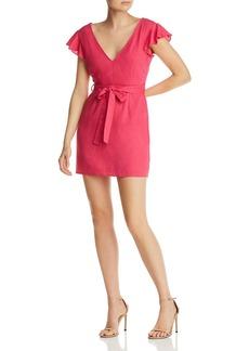 AQUA Flutter-Sleeve Mini Dress - 100% Exclusive
