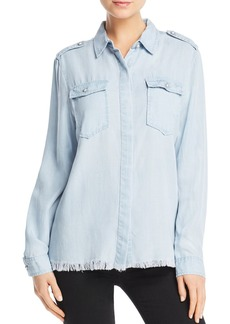 AQUA Frayed Chambray Shirt - 100% Exclusive