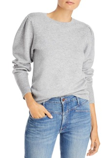 AQUA French Terry Cashmere Puff Sleeve Crewneck Sweater - 100% Exclusive