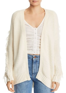 AQUA Fringe-Trim Open Cardigan - 100% Exclusive