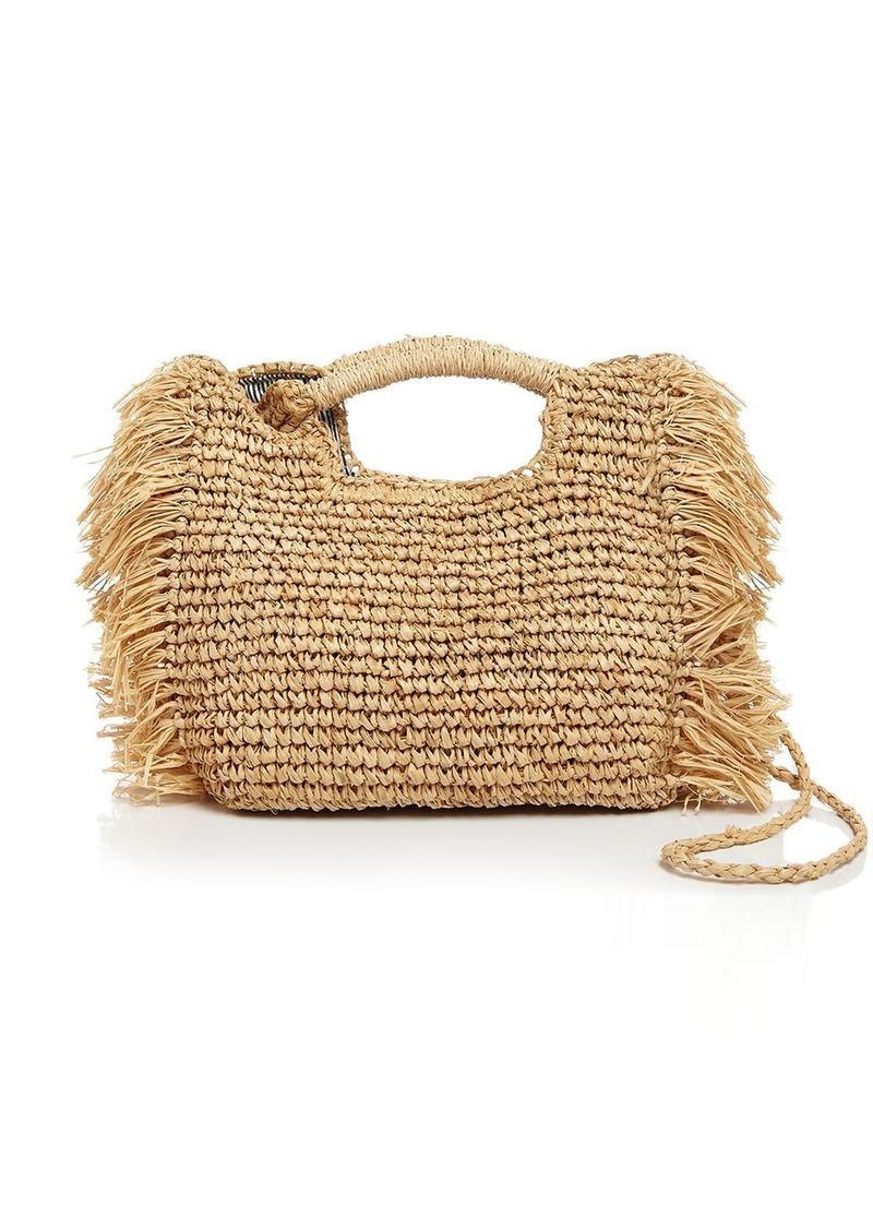 AQUA Fringed Raffia Crossbody Bag - 100% Exclusive