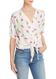 AQUA Fruit-Print Tie-Front Top - 100% Exclusive