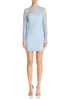 AQUA Geometric Lace Sheath Dress - 100% Exclusive