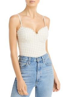 AQUA Gingham Bustier Bodysuit - 100% Exclusive