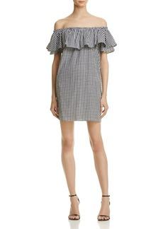AQUA Gingham Off-the-Shoulder Dress - 100% Exclusive