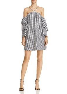 AQUA Gingham Ruffle-Sleeve Dress - 100% Exclusive