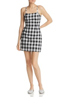 AQUA Gingham Tie-Back Dress - 100% Exclusive