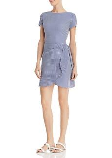 AQUA Gingham Wrap-Front Dress - 100% Exclusive