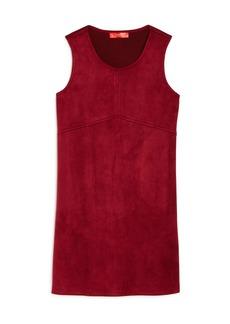 AQUA Girls' Faux Suede Shift Dress, Big Kid - 100% Exclusive
