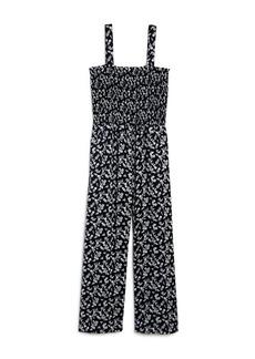 AQUA Girls' Floral Print Jumpsuit Big Kid - 100% Exclusive