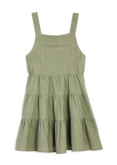 AQUA Girls' Overall Dress, Big Kid - 100% Exclusive