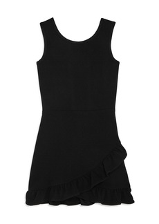 AQUA Girls' Ruffle Hem Dress, Big Kid - 100% Exclusive