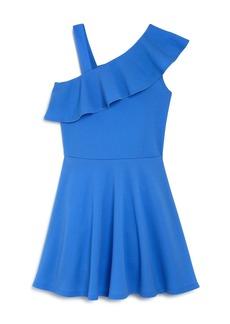 AQUA Girls' Ruffled One-Shoulder Dress, Big Kid - 100% Exclusive