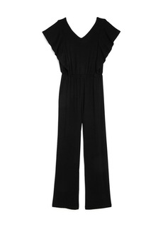 AQUA Girls' Ruffled-Sleeve Jumpsuit, Big Kid - 100% Exclusive
