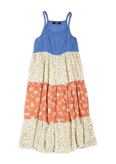 AQUA Girls' Tank Floral Midi Dress, Big Kid - 100% Exclusive