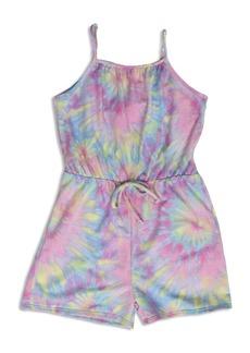 AQUA Girls' Tie Dyed Romper, Big Kid - 100% Exclusive