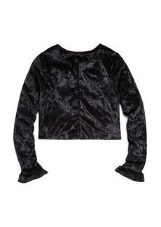 AQUA Girls' Velvet Jacket, Big Kid - 100% Exclusive