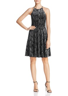 AQUA Glitter Velvet Dress - 100% Exclusive