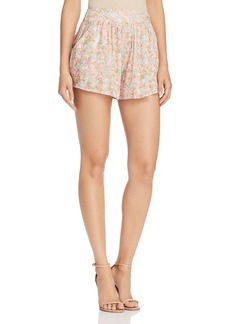 AQUA Grove Floral Print Shorts - 100% Exclusive