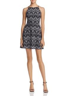 AQUA Halter-Neck Fit-and-Flare Dress - 100% Exclusive