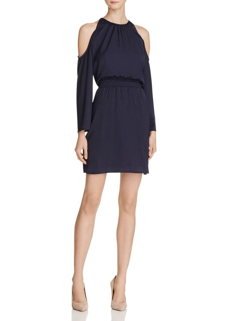 AQUA Hammered Satin Cold Shoulder Dress - 100% Exclusive