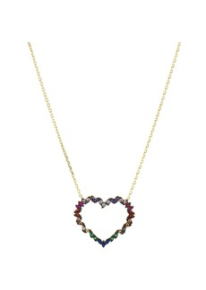 "AQUA Heart Pendant Necklace in Gold-Plated Sterling Silver or Sterling Silver, 16"" - 100% Exclusive"