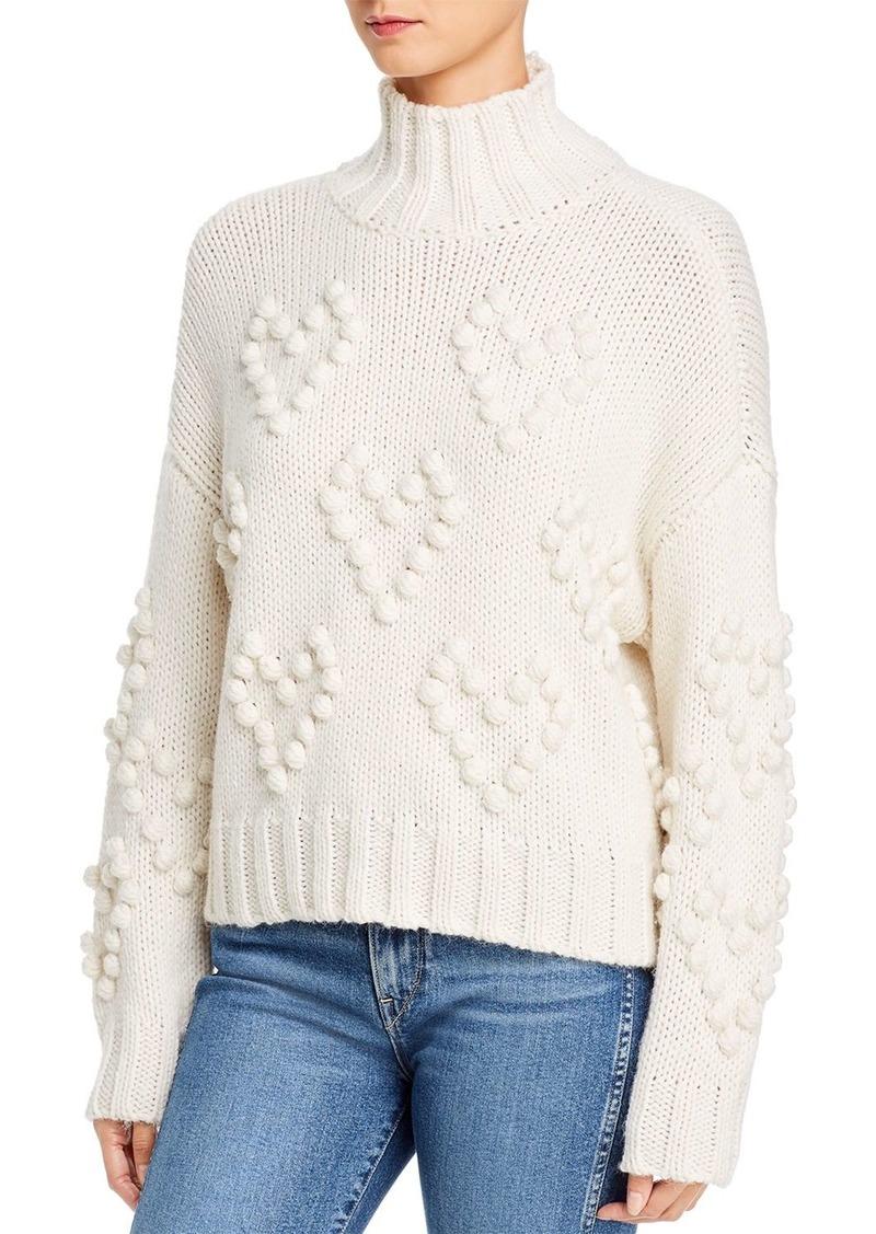 AQUA Heart Popcorn-Knit Sweater - 100% Exclusive