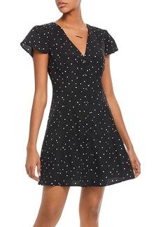 AQUA Heart Print Button-Front Dress - 100% Exclusive