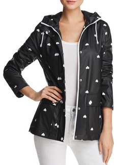 AQUA Heart Print Hooded Raincoat - 100% Exclusive