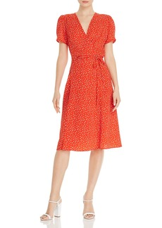 AQUA Heart-Print Wrap Dress - 100% Exclusive