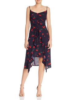 AQUA High/Low Cherry Print Midi Dress - 100% Exclusive