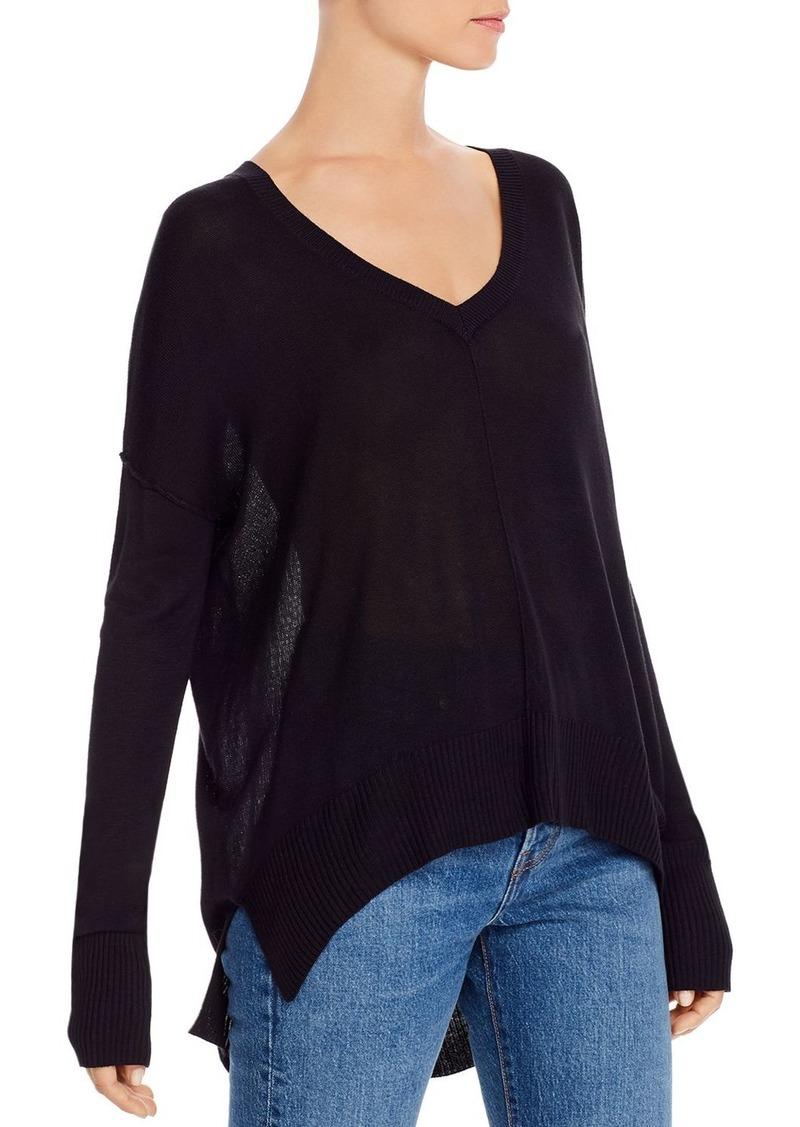 AQUA High/Low V-Neck Sweater - 100% Exclusive