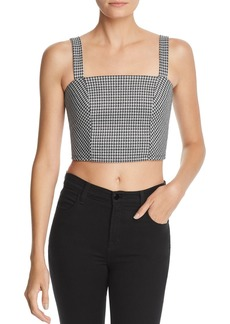 AQUA Houndstooth Crop Top - 100% Exclusive