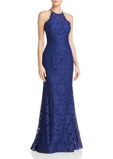 AQUA Illusion Lace Gown - 100% Exclusive
