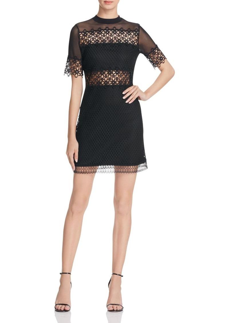 AQUA Illusion Yoke Lace Dress - 100% Exclusive