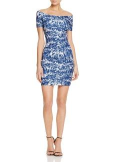 AQUA Ink Blot Off-the-Shoulder Body-Con Dress - 100% Exclusive