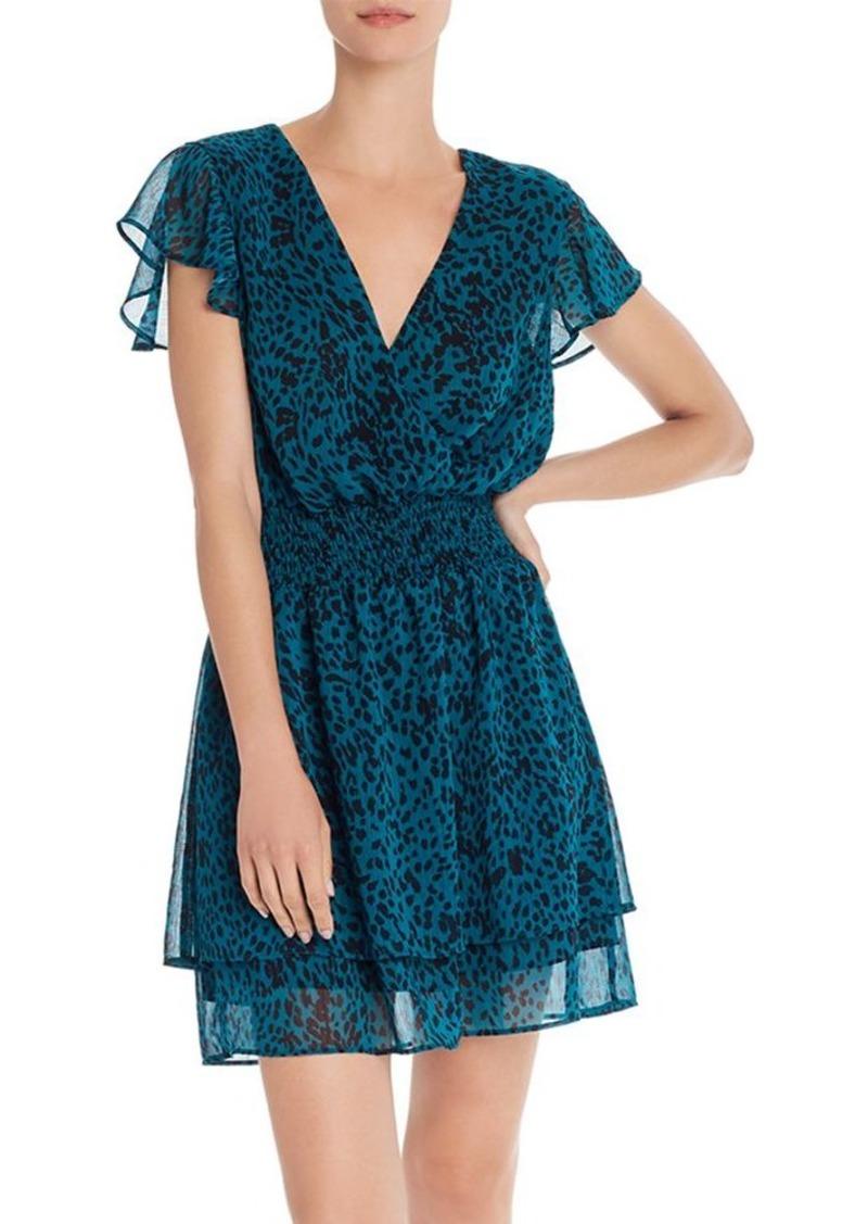 AQUA Jaguar-Print Faux-Wrap Dress - 100% Exclusive
