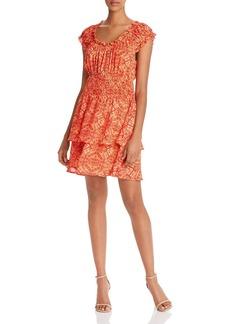 AQUA Kaleidoscope-Print Smocked-Waist Dress - 100% Exclusive