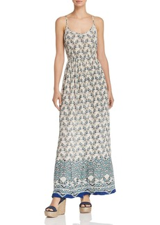 AQUA Keyhole Floral Print Maxi Dress - 100% Exclusive