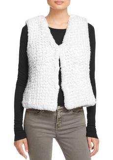 AQUA Knit Faux Fur Vest - 100% Exclusive